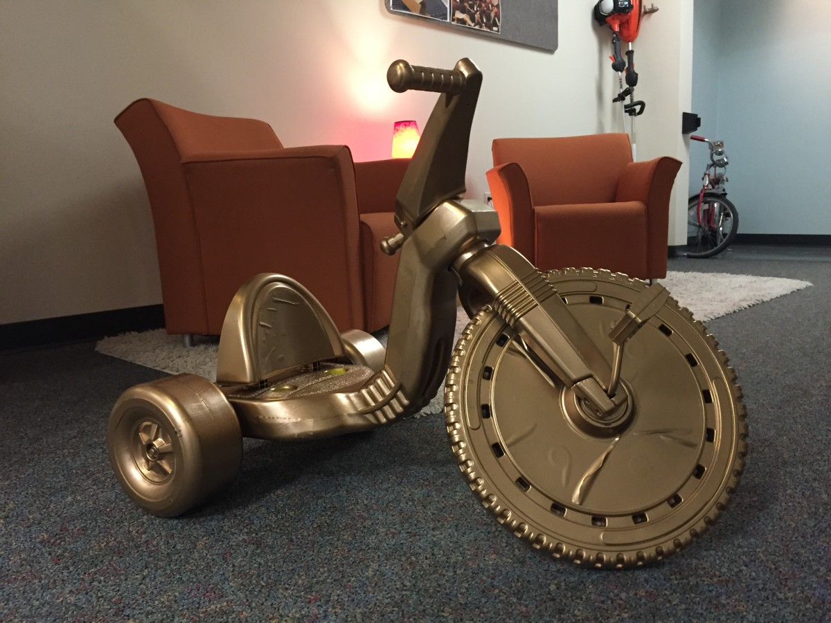 A golden big wheel from our big wheel races