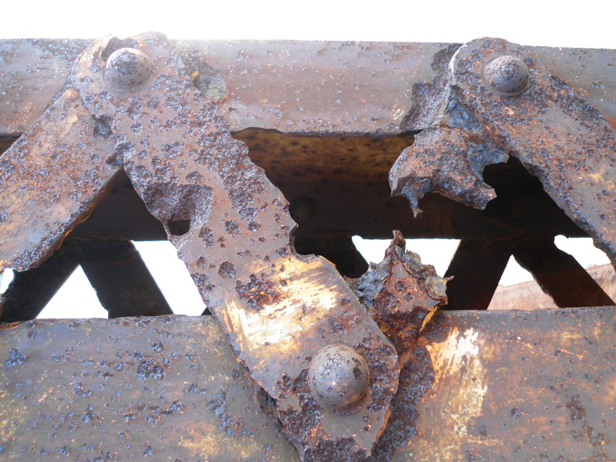 Rust is a euphemism for corrosion and one of the obvious factors in material selection.