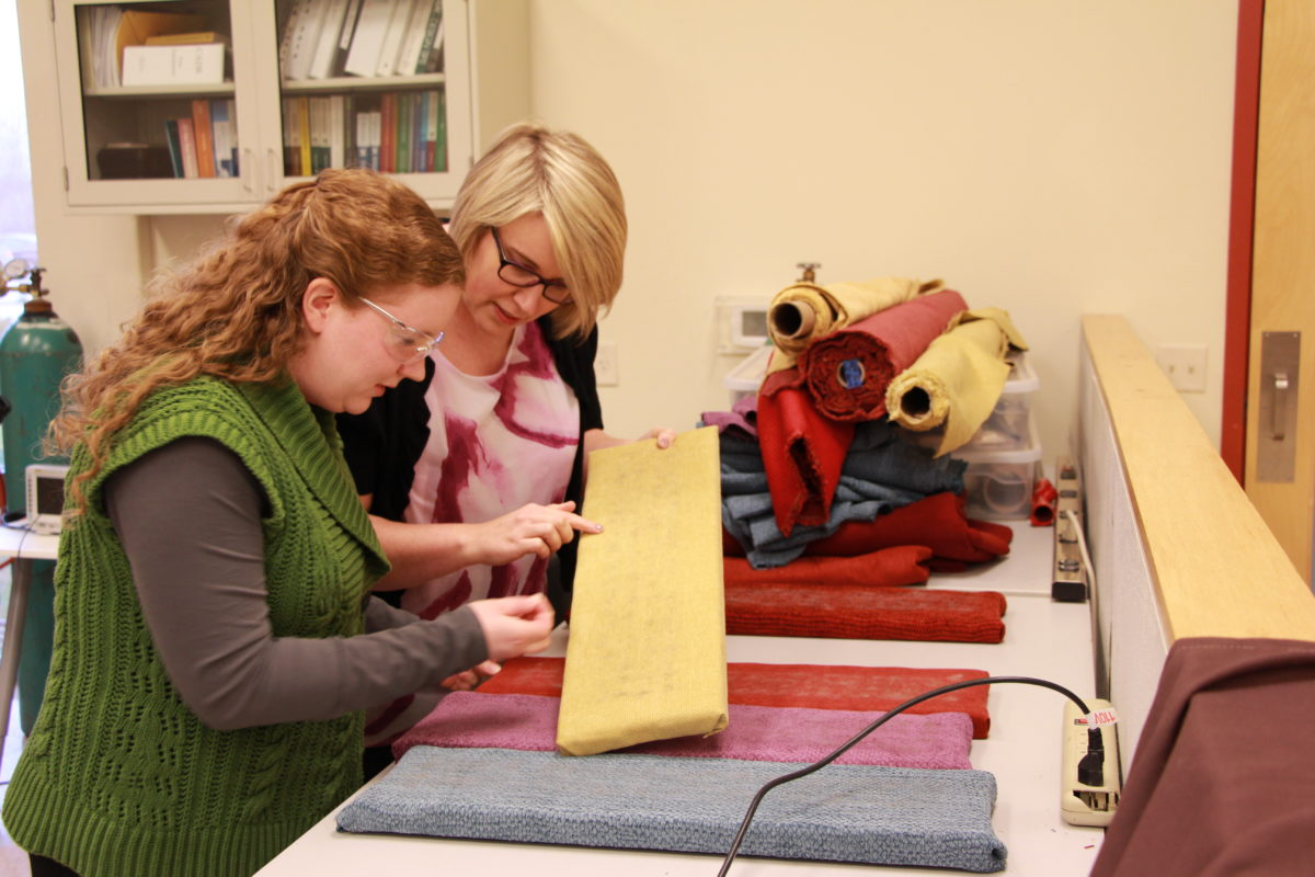 Selecting multiple upholstery types for a cleaning product test.