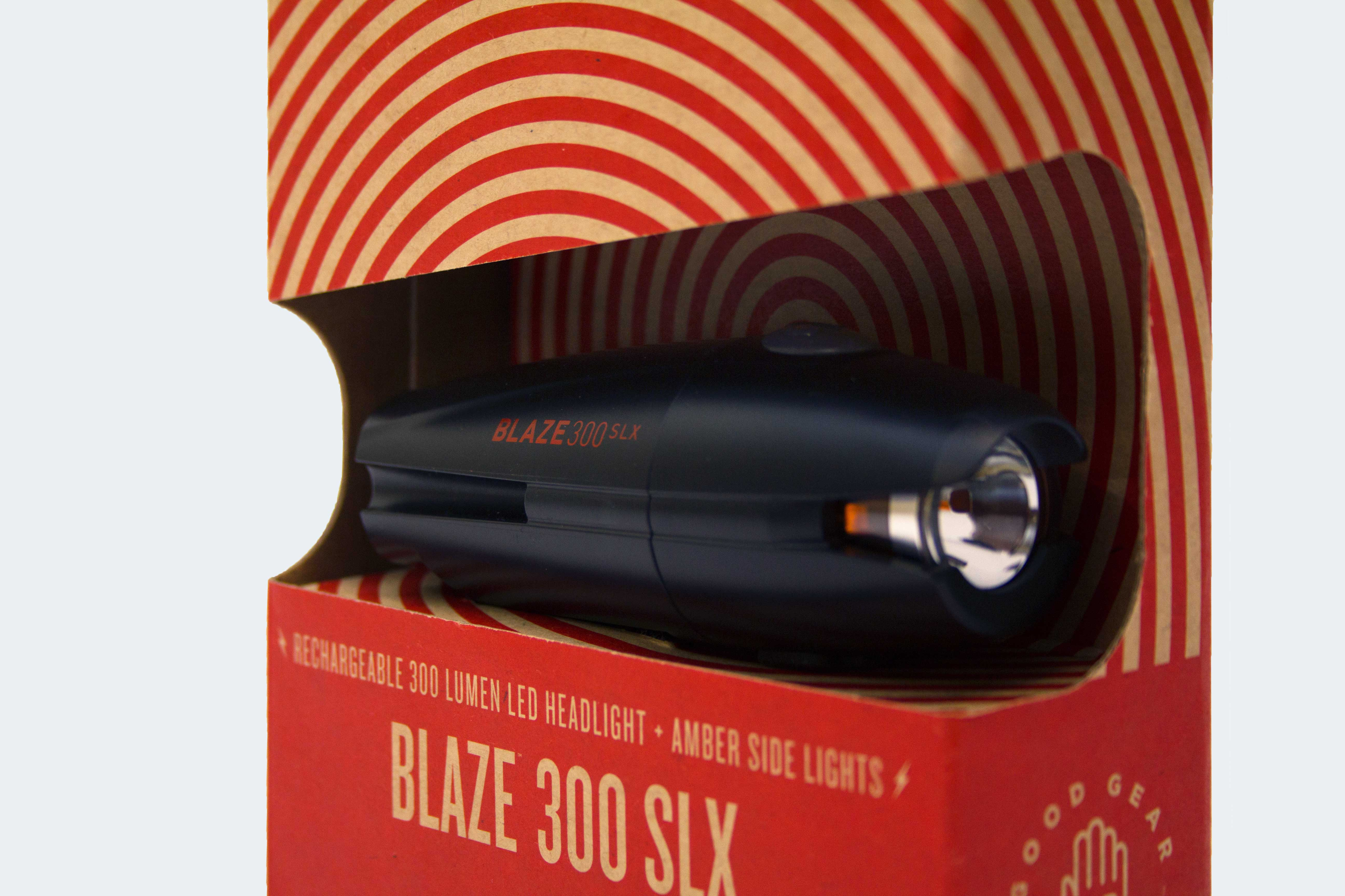 The Blaze 300 SLX features industrial design by bb7 and is manufactured and sold by Planet Bike.